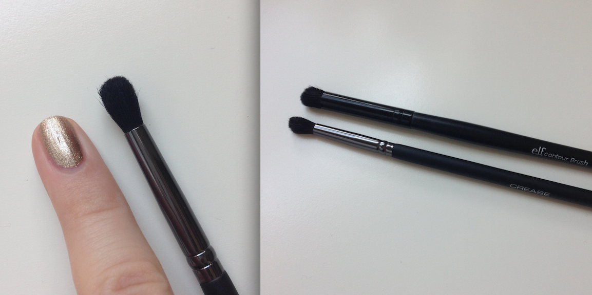 For reference, my pinky and an e.l.f. contour brush