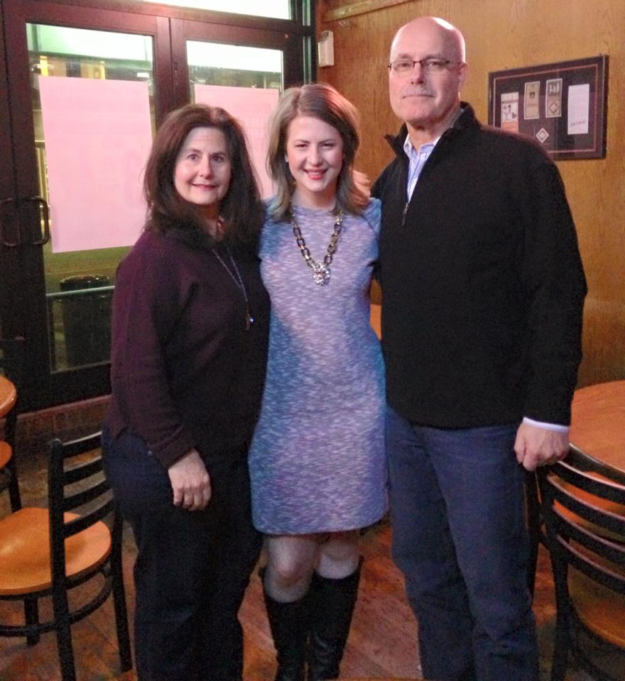 Saturday night with my parents. I am so lucky they came to Iowa to celebrate with me.