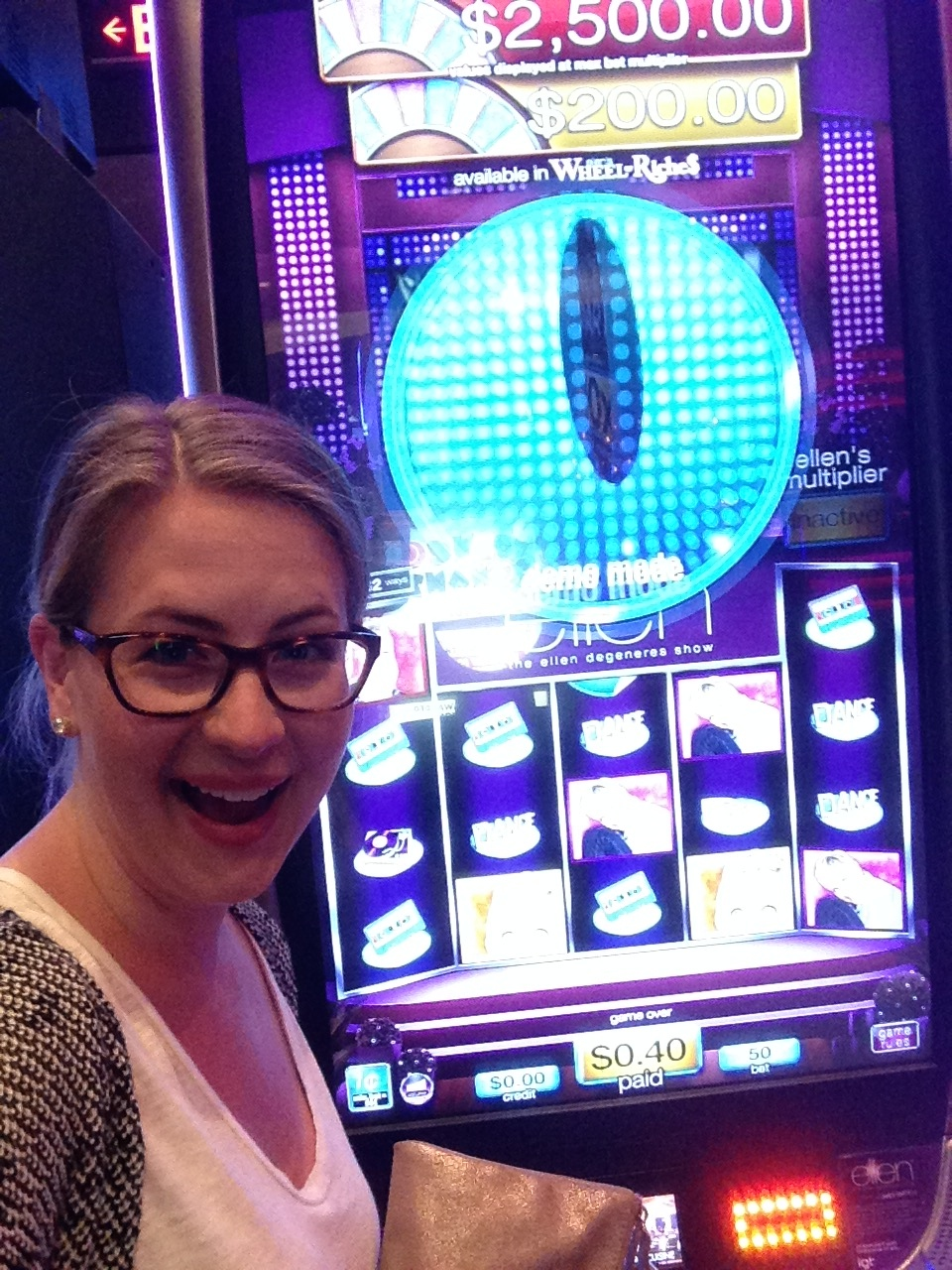I love Ellen and finding her slot machine in Atlantic Ctiy was pretty exciting!