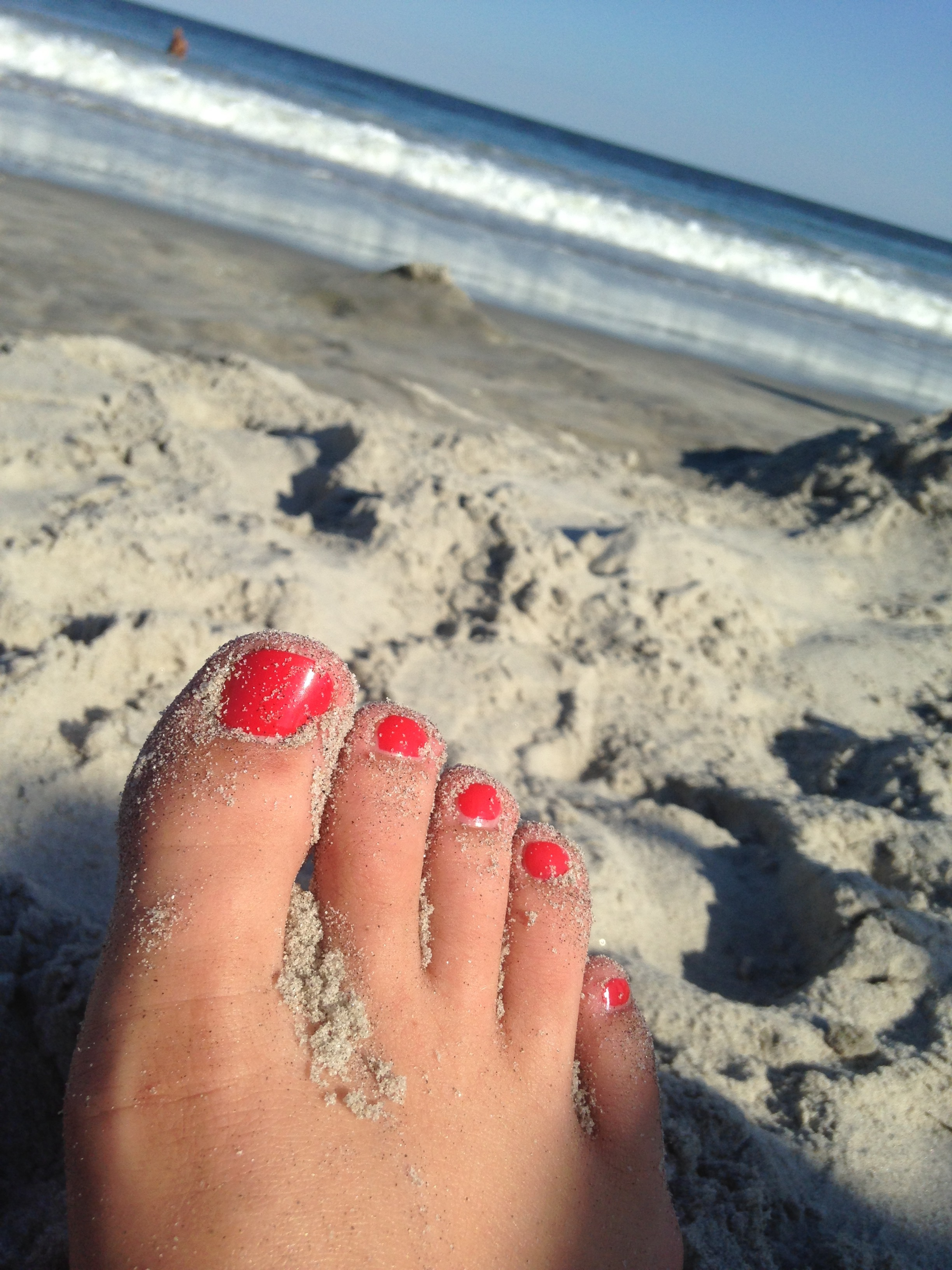 Cajun Shrimp by OPI - my favorite pedicure color!