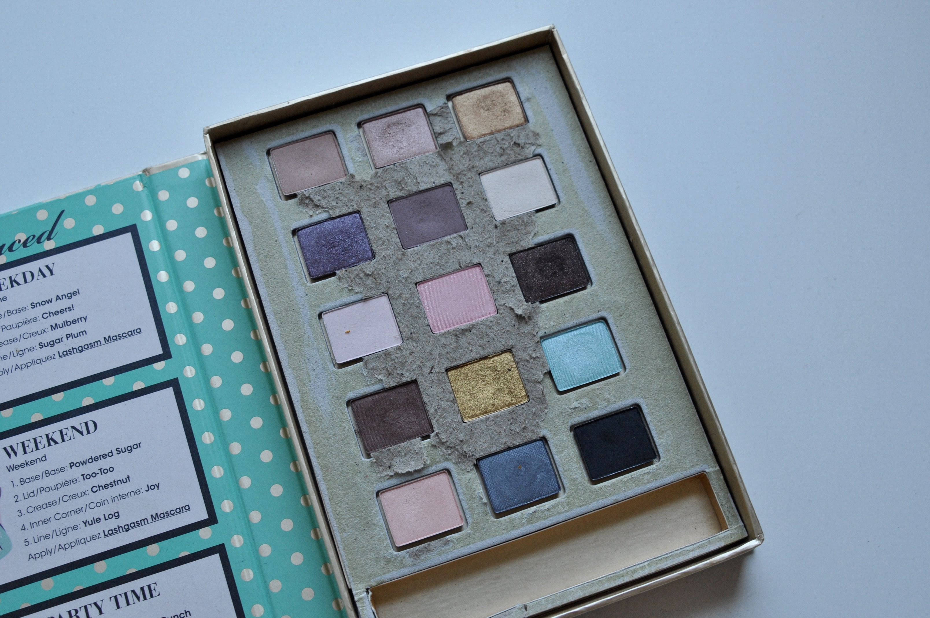 Too Faced eyeshadow Joy To The Girls Depotting