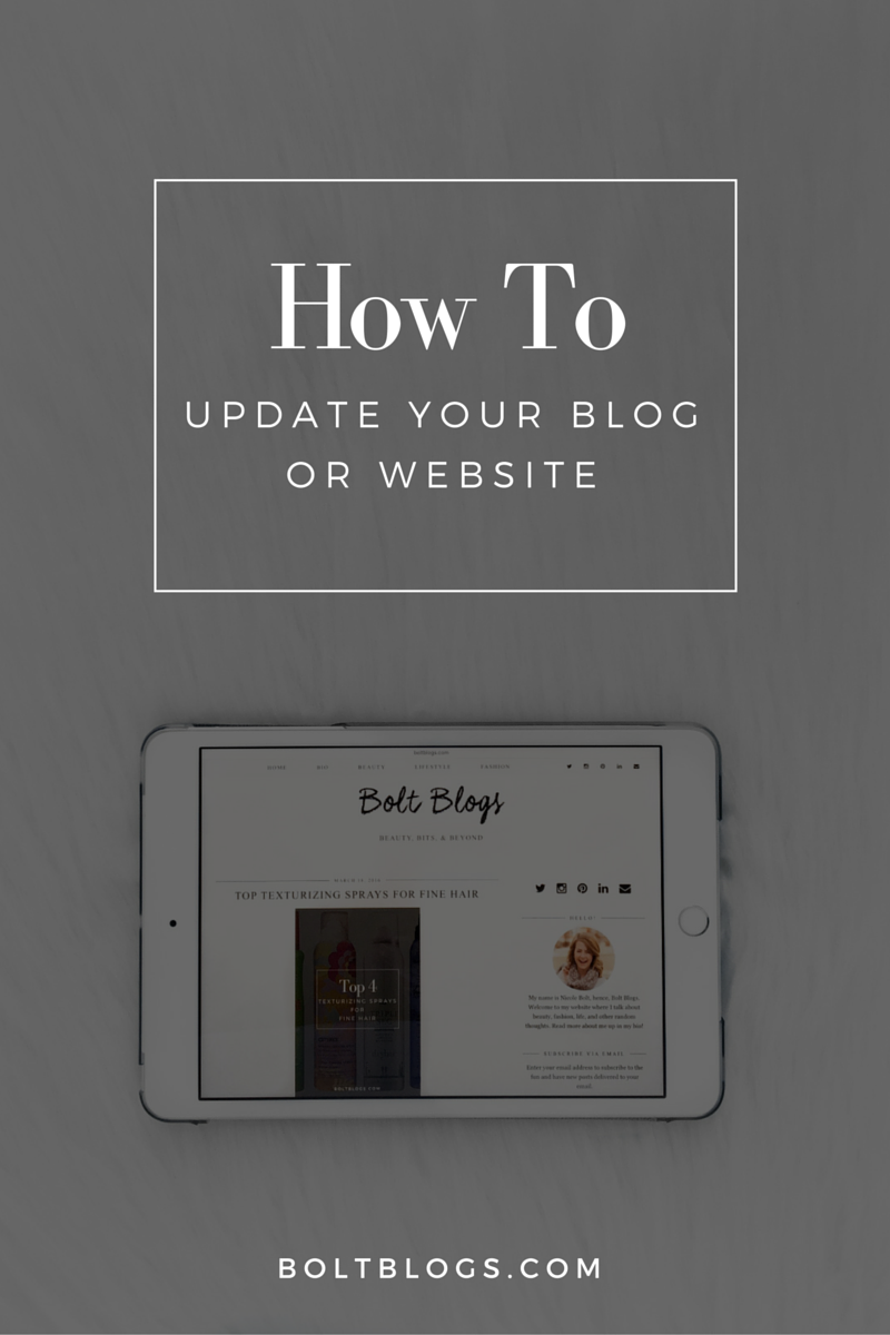 How to Update Your Blog | Bolt Blogs