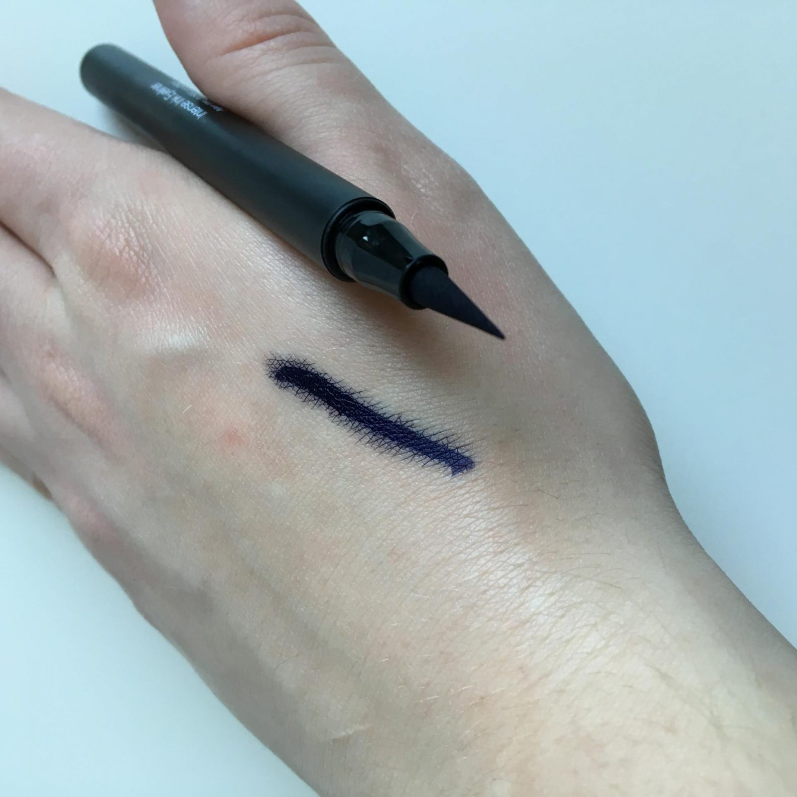elf Intense Ink Eyeliner swatch and review