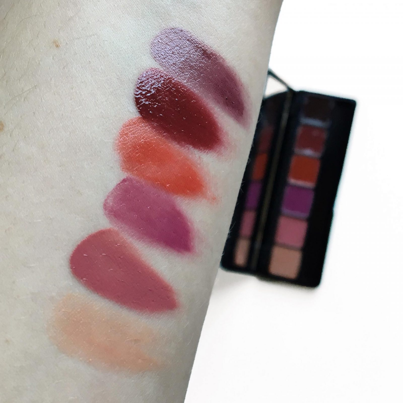 elf Runway Ready Lip Palette swatches