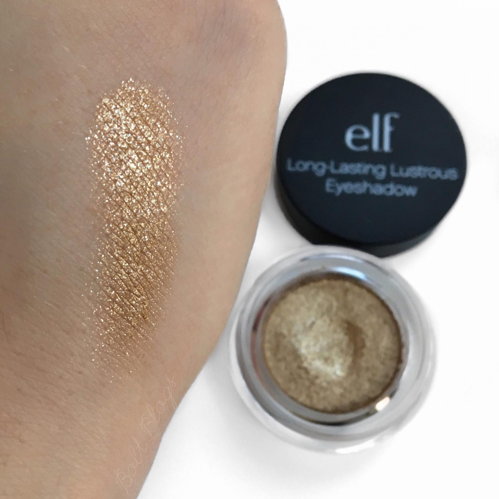 elf Long-Lasting Lustrous Eyeshadow - Toast swatch