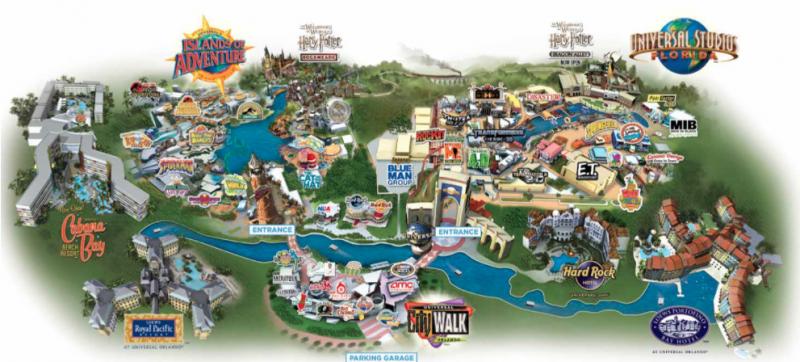Universal Studios Orlando Map Bolt Blogs