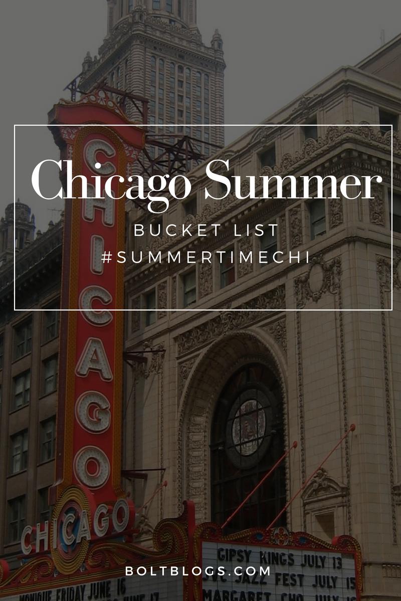 Chicago Summer 2018 Bucket List