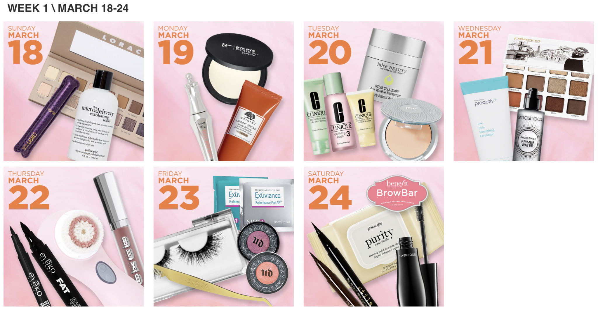 Ulta 21 Days of Beauty 2018 Week 1.png
