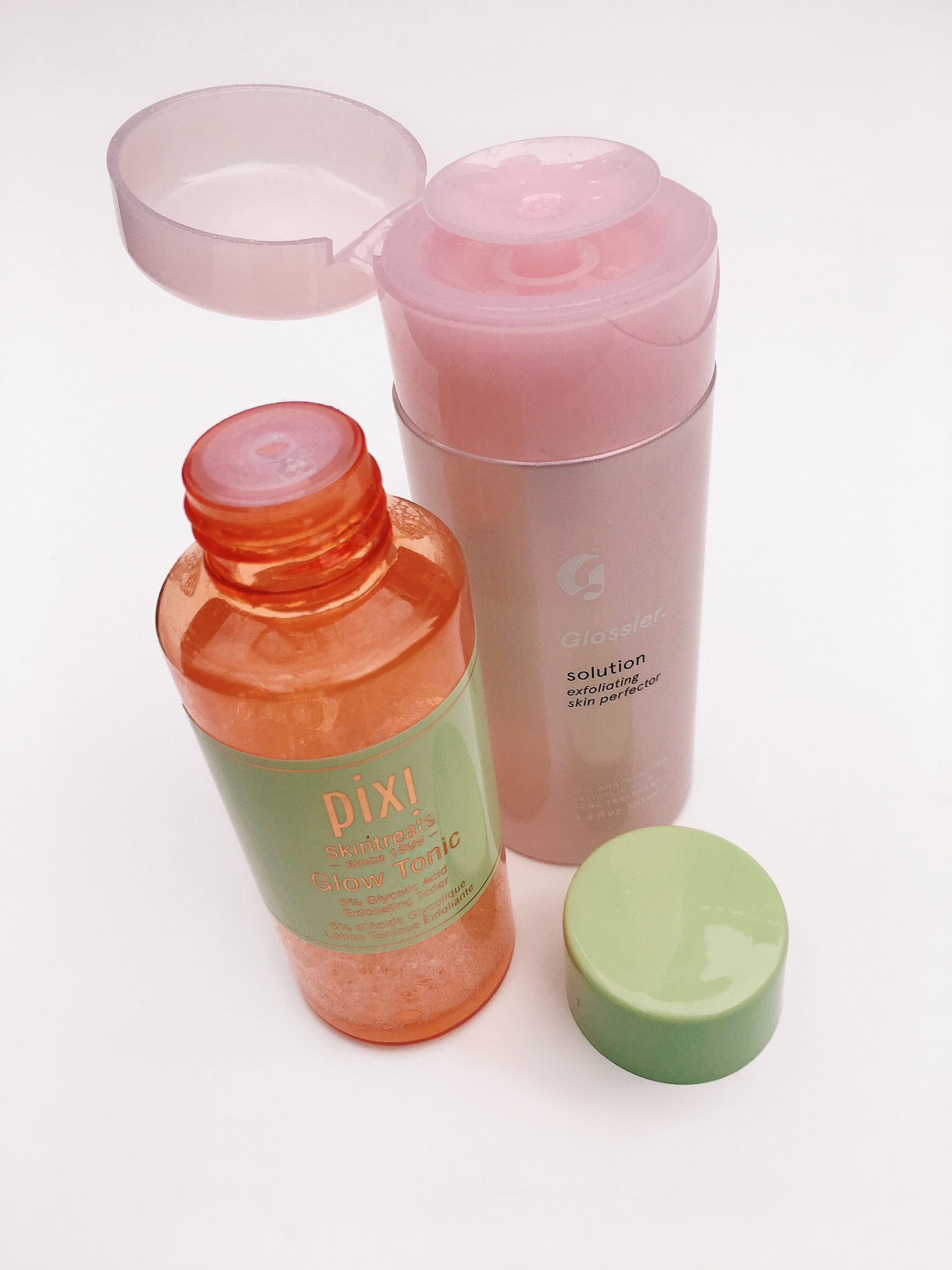 Glossier Solution compared to Pixi Glow Tonic Review