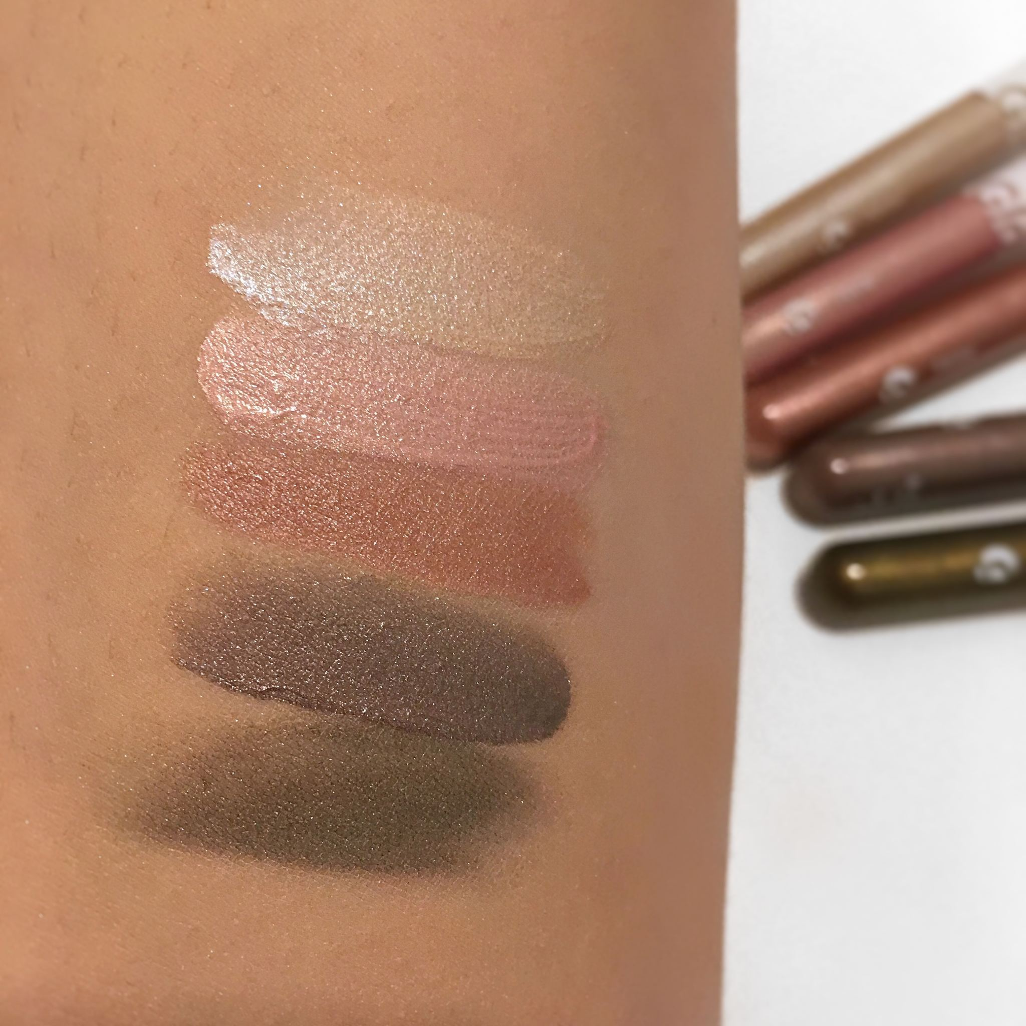 Glossier Lidstar Swatches Review