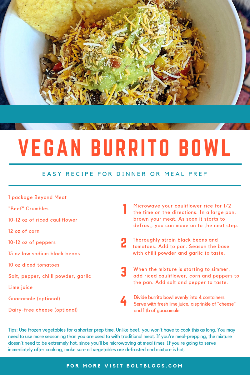 Vegan Burrito Bowl Recipe