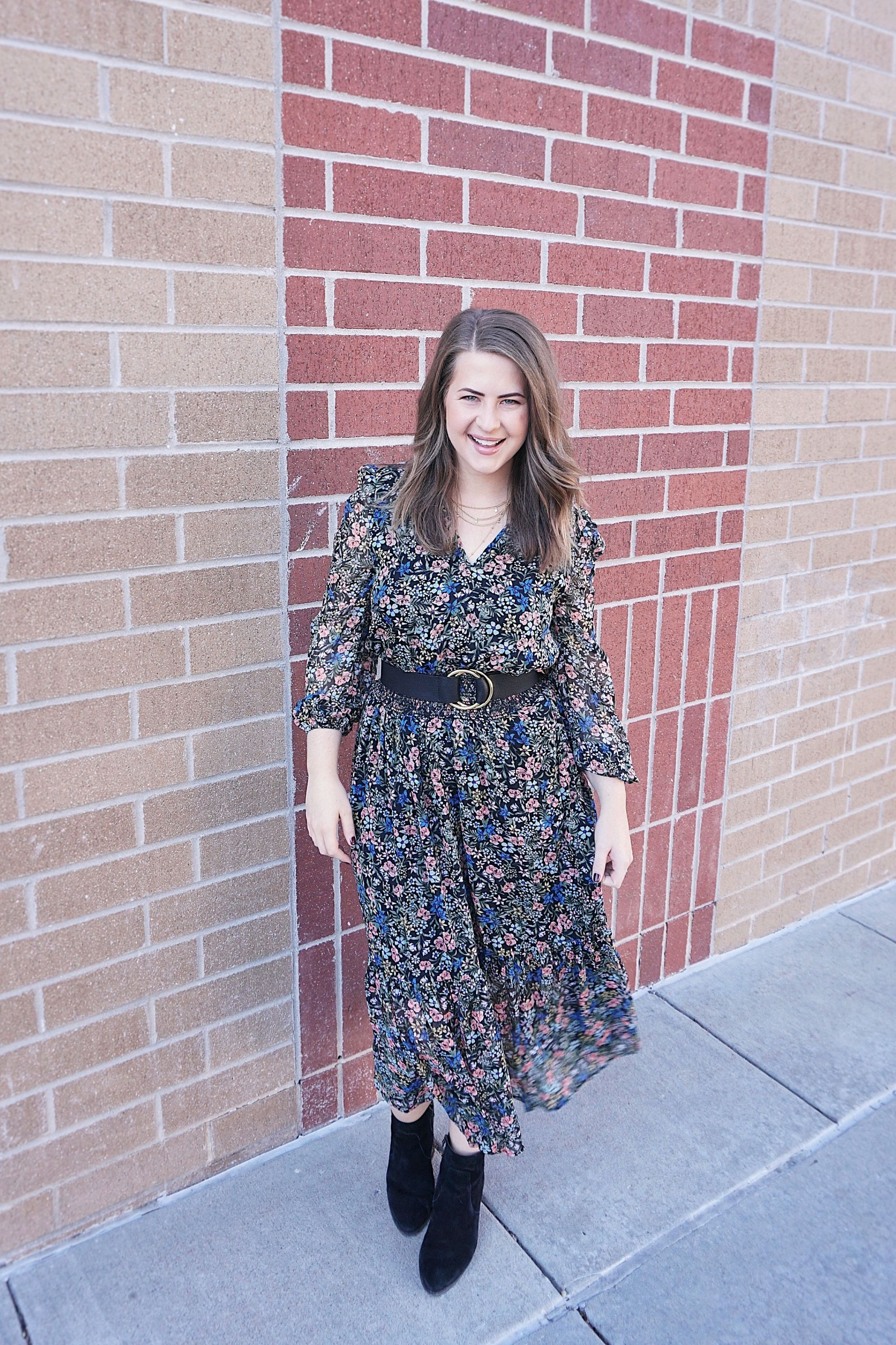Bolt Blogs Smocked Dress Floral Long Sleeve